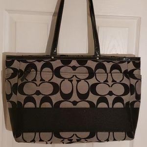 Large coach handbag, diaper bag, purse